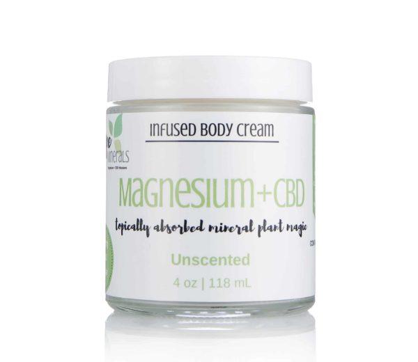 Magnesium + Full Spectrum Hemp Cream | Dope Minerals – 400mg-4oz, Unscented
