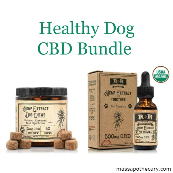 Image of Healthy Dog CBD Bundle - Dog CBD Oil and Treats | The Mass Apothecary