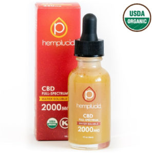 Hemplucid Vegan Water Soluble CBD Oil Tincture - USDA Organic 2000mg