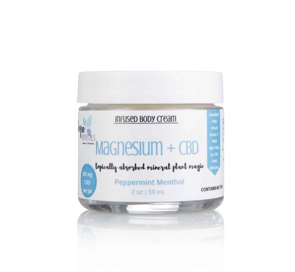 Magnesium + Full Spectrum Hemp Cream | Dope Minerals – 200mg-2oz, Peppermint