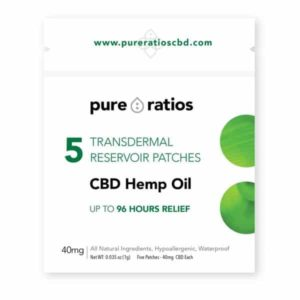 96 Hour Transdermal CBD Topical Patch 5 Pack | Pure Ratios CBD
