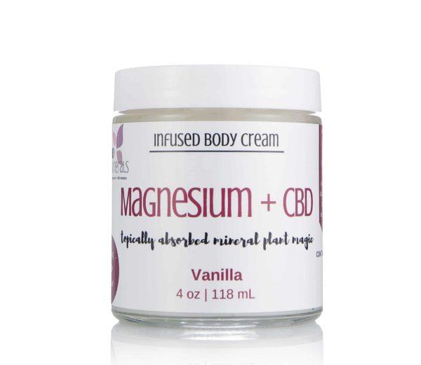 Magnesium + Full Spectrum Hemp Cream | Dope Minerals – 400mg-4oz, Vanilla