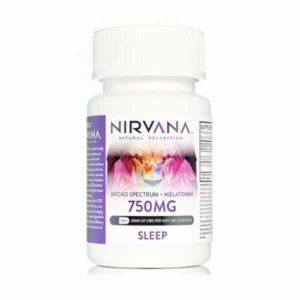 Nirvana CBD Gel Capsules 750mg Sleep