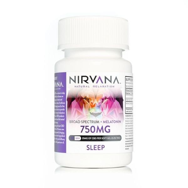Nirvana CBD Gel Capsules 750mg Sleep