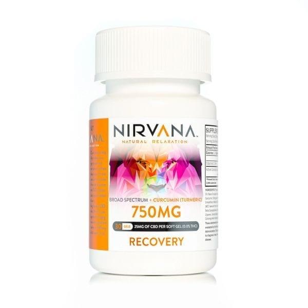 Nirvana CBD Gel Capsules 750mg Recovery