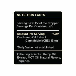 PureKana Vanilla CBD Oil Tincture Supplement Facts