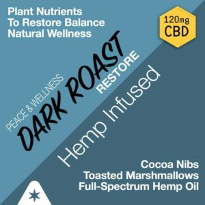 Restore Dark Roast CBD Coffee 120mg