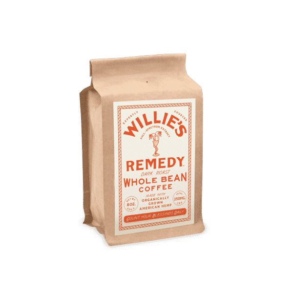 Willie's Remedy CBD Coffee Dark Roast Whole Bean