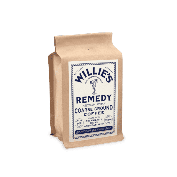 Willie's Remedy CBD Coffee Medium Roast Ground