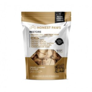 Honest Paws Healthy Coat Restore CBD Bites Creamy Coconut