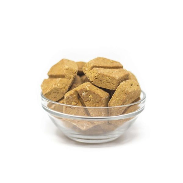Honest Paws Calming Bites Roasted Peanut Butter in a Bowl