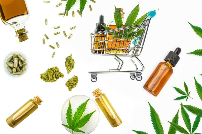 CBD Products and Shopping Cart