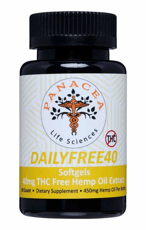 DAILY THC-Free CBD Soft Gels Panacea Life Sciences