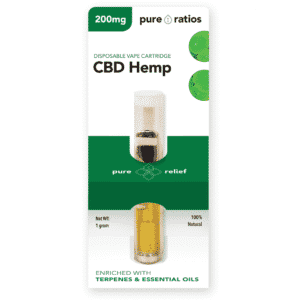 200mg CBD Hemp Vape Cartridge | Pure Ratios CBD