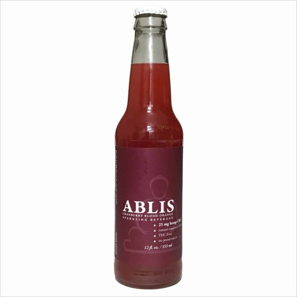 Ablis CBD Sparkling Beverage Cranberry Blood Orange