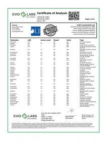 Isolate CBD Capsules 30 count 25mg COA pg2 | Proleve CBD