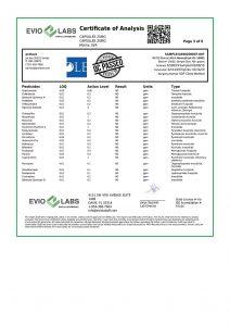 Isolate CBD Capsules 30 count 25mg COA pg3 | Proleve CBD
