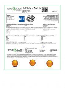 Isolate CBD Capsules 30 count 25mg COA pg6 | Proleve CBD