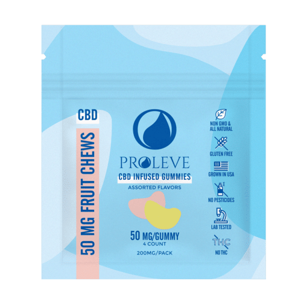 50mg CBD Gummy Slices 4ct ft | Proleve CBD