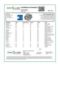 Isolate CBD Capsules 30 count 50mg COA pg3 | Proleve CBD