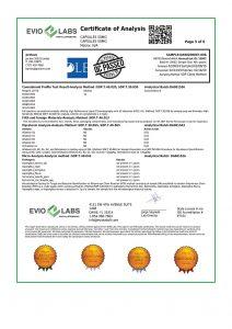 Isolate CBD Capsules 30 count 50mg COA pg5 | Proleve CBD