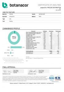 Full Spectrum CBD Oil Tincture 1000mg COA pg1 Proleve CBD