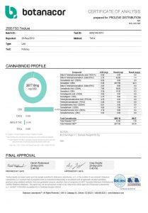 Full Spectrum CBD Oil Tincture 2500mg COA pg1 Proleve CBD