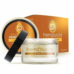 Hemplucid Vegan CBDa Body Cream 1000mg