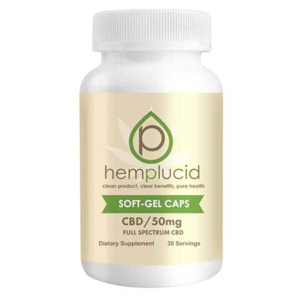 Hemplucid Full-Spectrum CBD Soft Gels Capsules 50mg