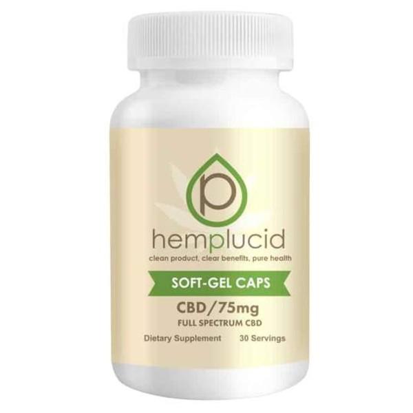 Hemplucid Full-Spectrum CBD Soft Gels Capsules 75mg