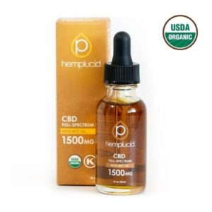 Hemplucid Vegan Whole Plant CBD Oil - Full Spectrum 1500mg USDA Organic