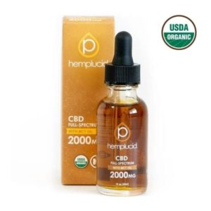 Hemplucid Vegan Whole Plant CBD Oil - Full Spectrum 2000mg USDA Organic