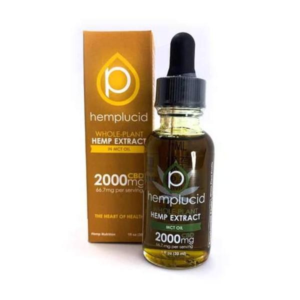 Hemplucid Whole Plant Vegan CBD Oil - Full Spectrum 2000mg