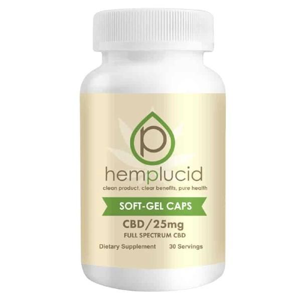 Hemplucid Full-Spectrum CBD Soft Gels Capsules 25mg