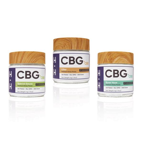CBG and CBD Flower 3 Jar Lot 1