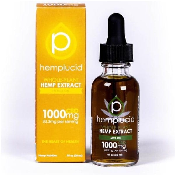 Hemplucid Whole Plant CBD Oil - Full Spectrum 1000mg