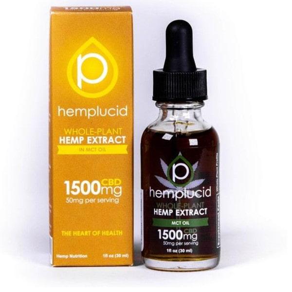 Hemplucid Whole Plant CBD Oil - Full Spectrum 1500mg