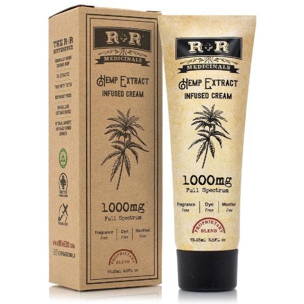 1000mg CBD Cream - R + R Medicinals