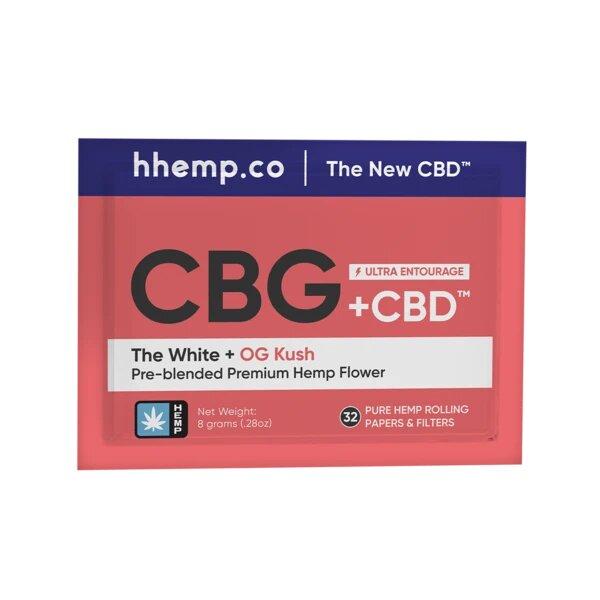 OG Kush and The White CBG+CBD 8 Gram Pre-blended Pouch