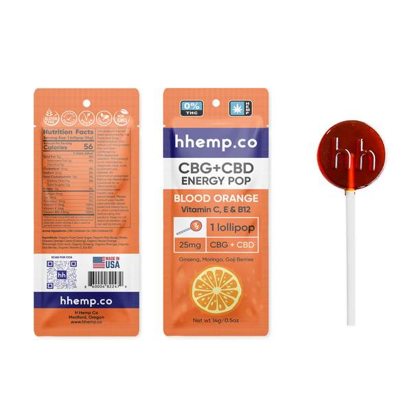 CBG+CBD Energy Lollipop - Blood Orange Single
