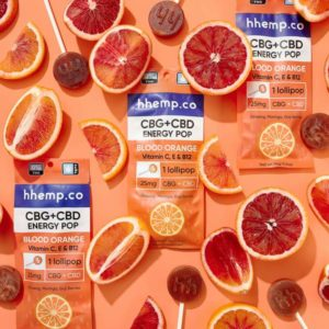 CBG+CBD Energy Lollipop - Blood Orange - Decorative