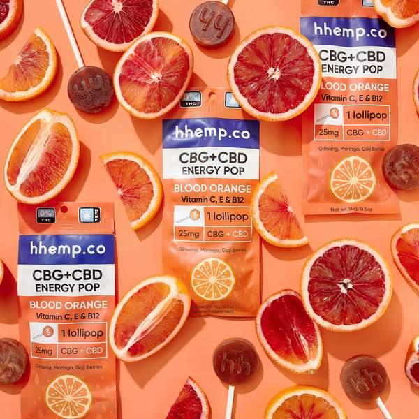 CBG+CBD Energy Lollipop - Blood Orange - Decorative