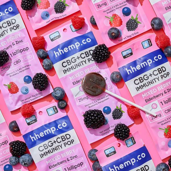 CBG+CBD Immunity Lollipop - Mixed Berry - Decorative