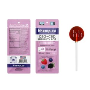 CBG+CBD Immunity Lollipop - Mixed Berry Single Pop