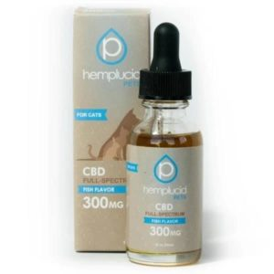 Cat CBD Oil Tincture Fish 300mg - Hemplucid