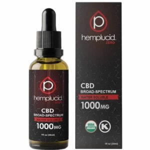 Hemplucid Broad Spectrum Whole Plant CBD Oil 1000mg