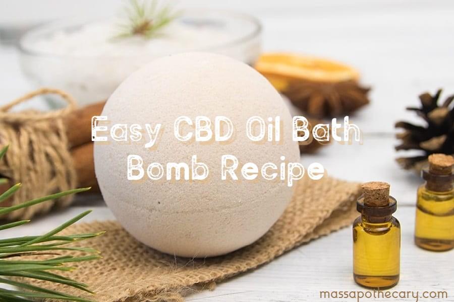 Easy CBD Oil Bath Bomb Recipe