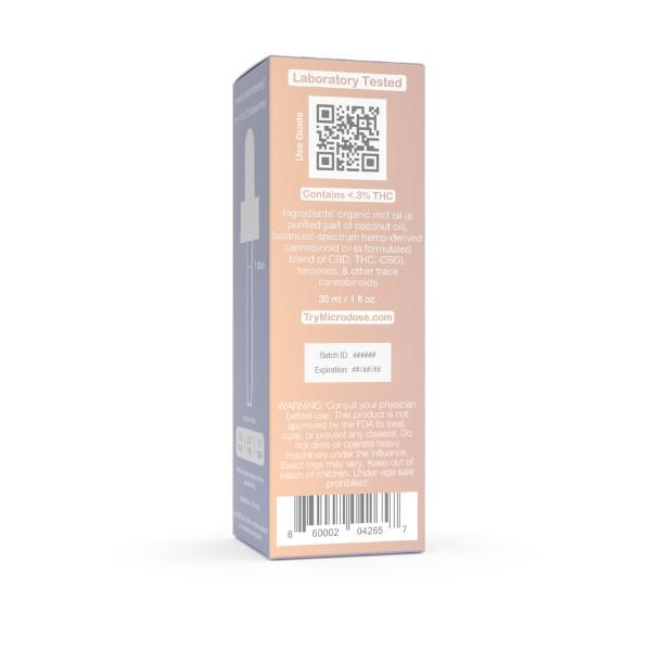 4:1:1 Microdose Oil Tincture CBD THC CBG