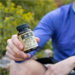 R+R Medicinals CBD Softgels 30mg CBD Capsule Bottle in Hand