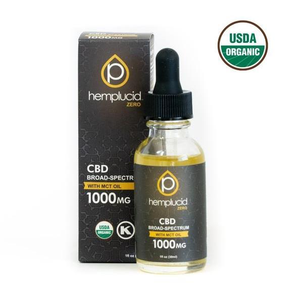 Image of USDA Organic Broad Spectrum CBD Oil by Hemplucid   The Mass Apothecary